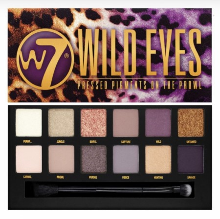 W7 WILD EYES makeup palette