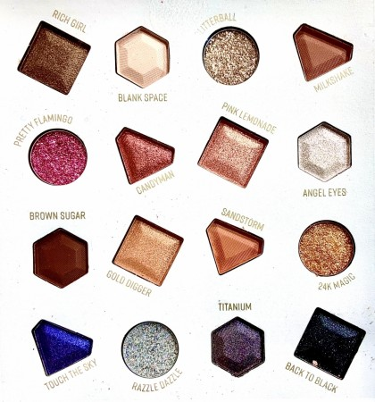 GLAMROCK eyeshadow palette by TECHNIC